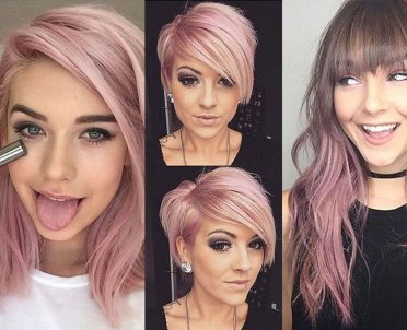 Featured colorful pink hairstyles
