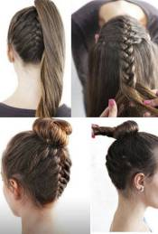 Hairstyles diy and tutorial for all hair lengths 156   fashion