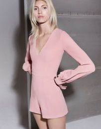 Pink sleeve dress idea for daily action 04 fashion