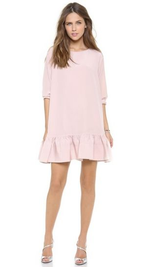 Pink sleeve dress idea for daily action 08 fashion