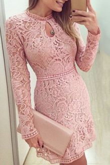 Pink sleeve dress idea for daily action 10 fashion
