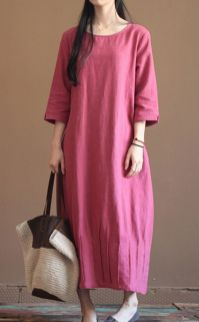 Pink sleeve dress idea for daily action 32 fashion