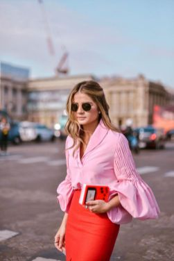 Pink sleeve dress idea for daily action 33 fashion