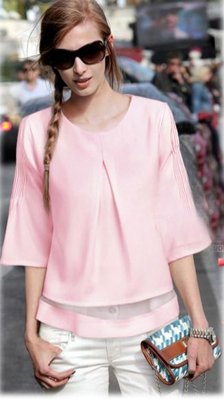 Pink sleeve dress idea for daily action 37 fashion