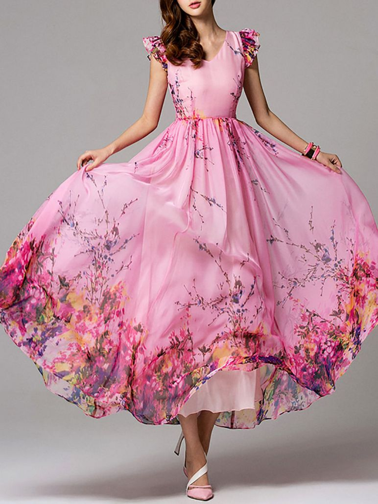 Pink sleeve dress idea for daily action 40 fashion