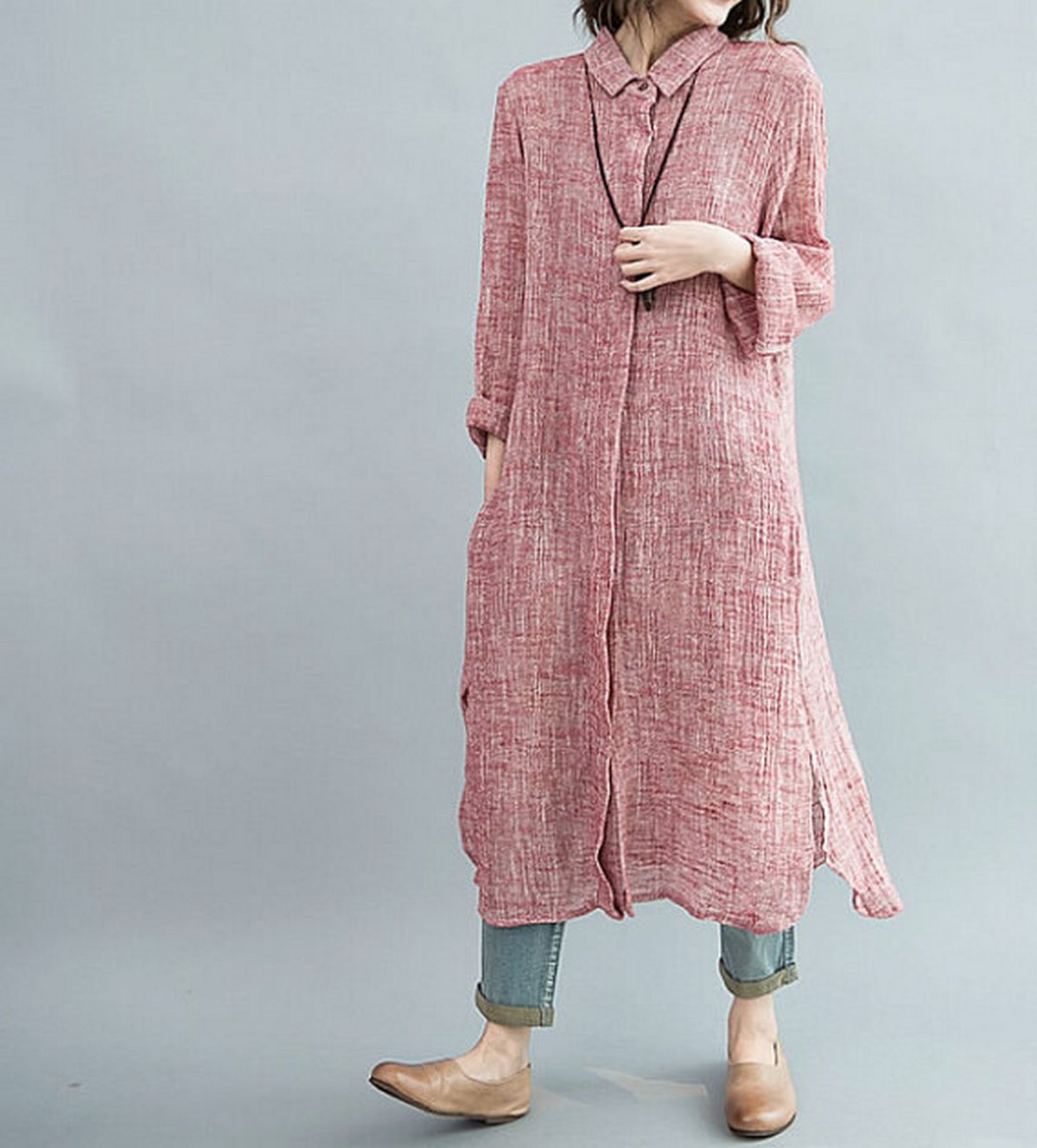 Pink sleeve dress idea for daily action 44 fashion