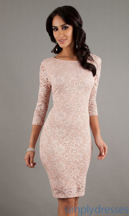 Pink sleeve dress idea for daily action 47 fashion