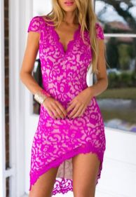 Pink sleeve dress idea for daily action 50 fashion
