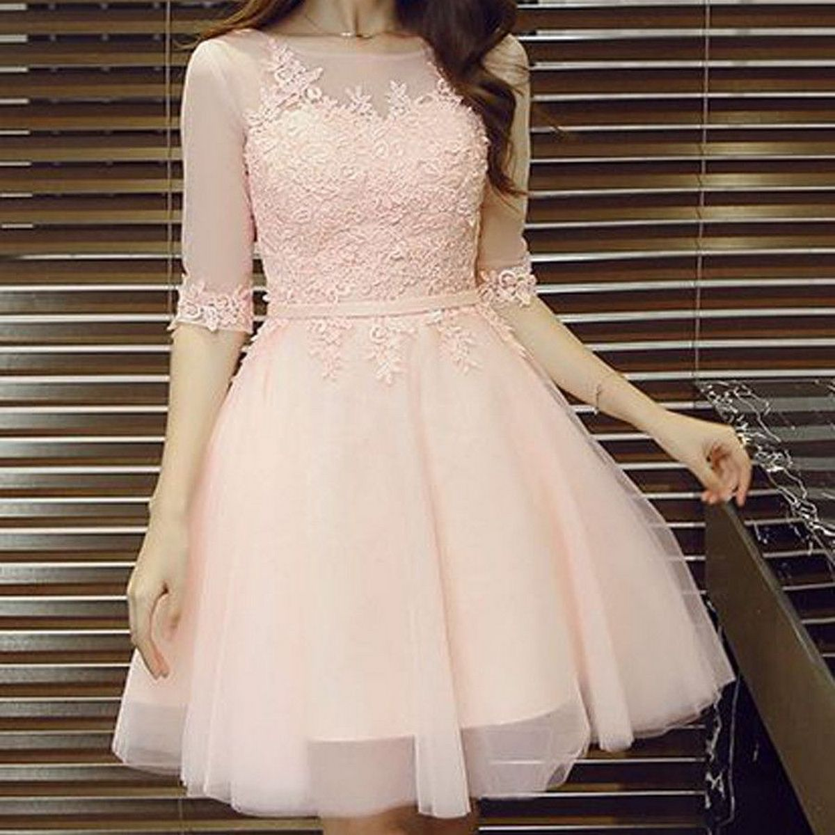 Pink sleeve dress idea for daily action 54 fashion
