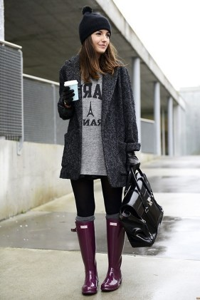 Rainy day cold weather outfit (2)