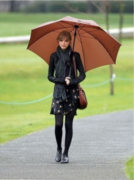 Rainy day cold weather outfit (25)