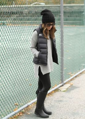 Rainy day cold weather outfit (34)