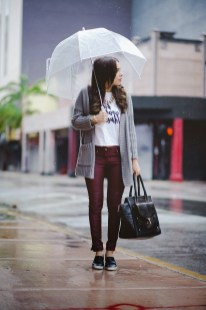 Rainy day cold weather outfit (51)