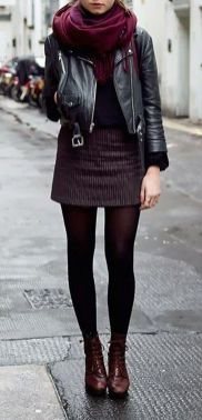 Rainy day cold weather outfit (8)