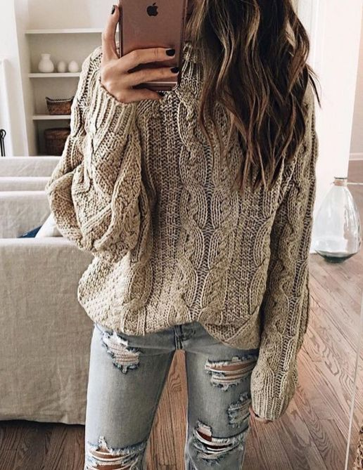 Sweaters outfit idea you should try this year (026)   fashion