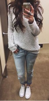 Sweaters outfit idea you should try this year (046) | fashion