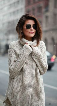 Sweaters outfit idea you should try this year (053) | fashion