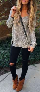 Sweaters outfit idea you should try this year (056)   fashion