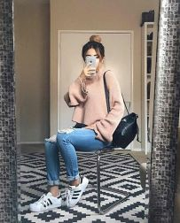 Sweaters outfit idea you should try this year (075) | fashion