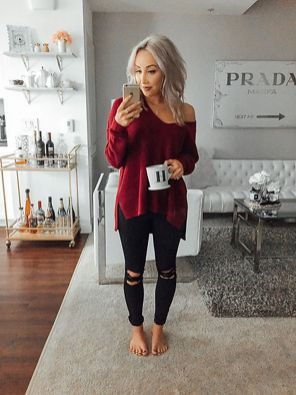 Sweaters outfit idea you should try this year (080)   fashion