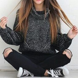 Sweaters outfit idea you should try this year (082) | fashion