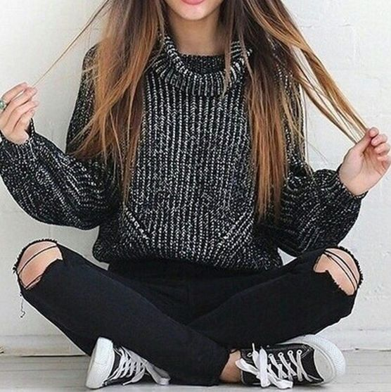 Sweaters outfit idea you should try this year (082)   fashion