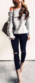 Sweaters outfit idea you should try this year (086)   fashion