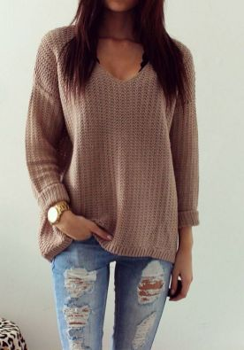 Sweaters outfit idea you should try this year (094)   fashion