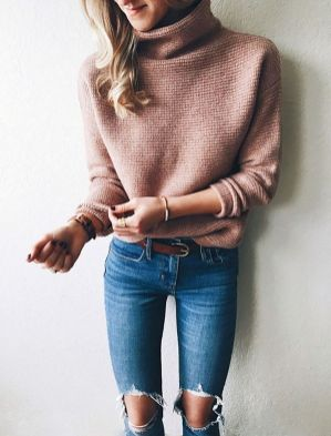 Sweaters outfit idea you should try this year (095)   fashion