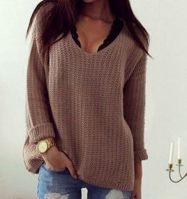 Sweaters outfit idea you should try this year (103)   fashion