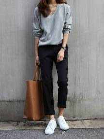 Women's white sneakers outfit 101