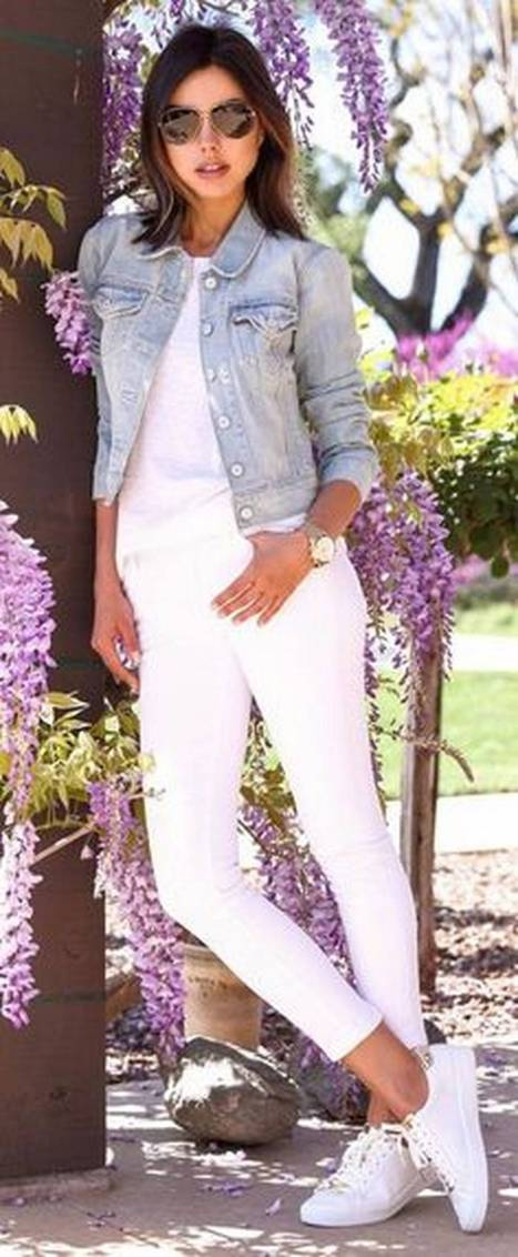 Women's white sneakers outfit 18