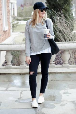 Women's white sneakers outfit 65