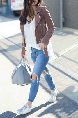 Women's white sneakers outfit 70