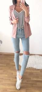Women's white sneakers outfit 77