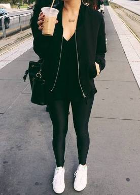 Women's white sneakers outfit 80