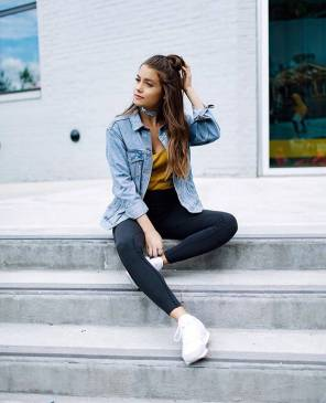 Women's white sneakers outfit 90