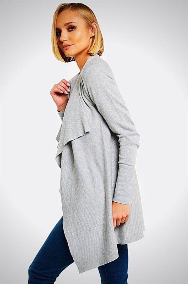 дамска жилетка в сиво