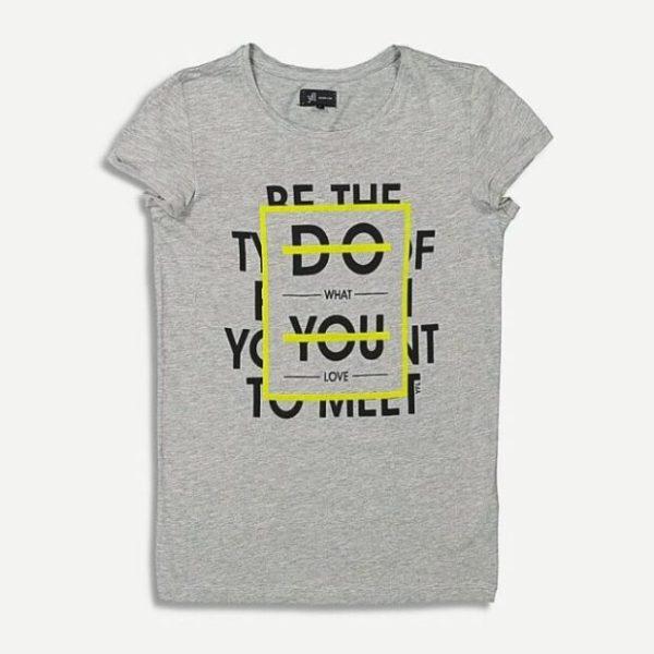 Дамска тениска в сиво