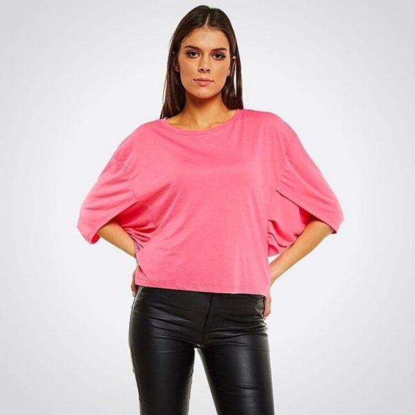 Дамска блуза в розово