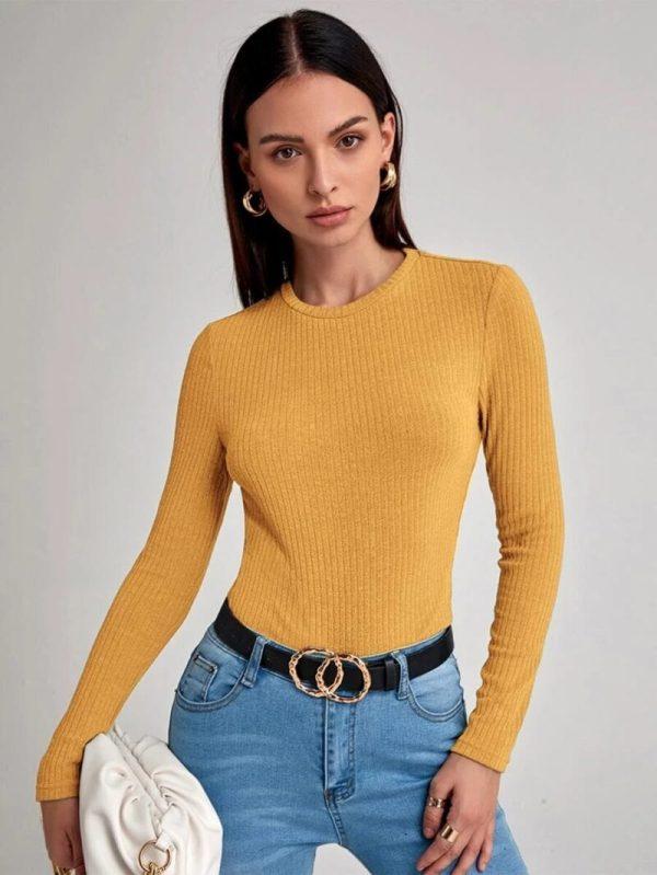 Дамска блуза в жълто