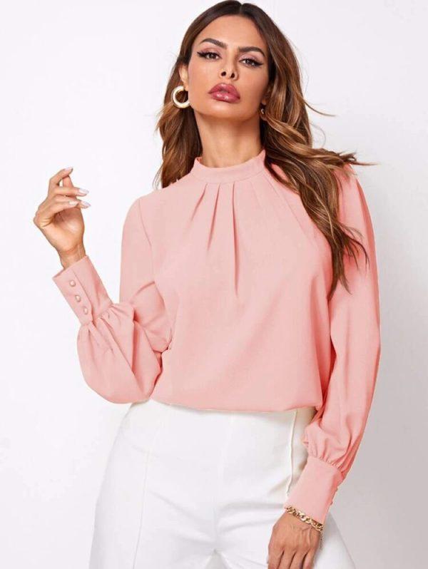 Стилна блуза в розово