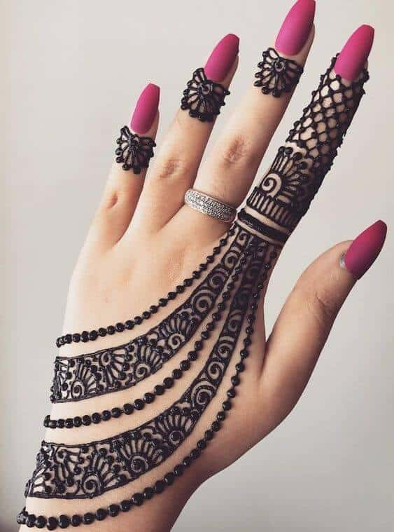 jewelry back hand mehndi design