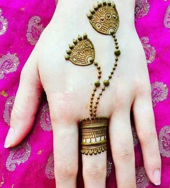 jhumka rings mehndi designs