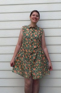 This was the alder shirt dress with no alterations. Not a bad dress, but really not what I was going for.