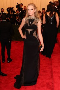 On the red carpet at the Met Ball wearing a J. Mendel gown.