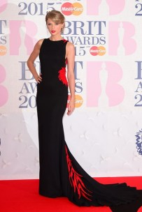 She wore a Roberto Cavalli Atelier gown to The Brit Awards in London.
