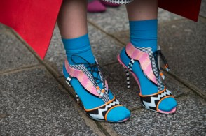 PARIS, FRANCE - FEBRUARY 28: Fashion Buyer Frances Chow wears Sophie Webster shoes on day 4 of Paris Collections: Women on February 28, 2014 in Paris, France. (Photo by Kirstin Sinclair/Getty Images)