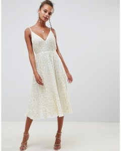 asos-design-delicate-sequin-midi-plunge-dress-with-full-skirt-cream