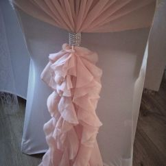 Blush Chair Sashes Uk Ingenuity 3 In 1 Smartclean High Wedding Covers Nottingham Pink Hoods And Ruffles